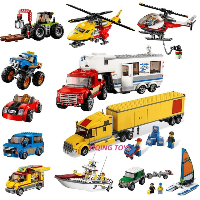 All Series Compatible Legoe City Great Vehicles Building Blocks Bricks Car Plane Ship Model toys for Childrens Kid Gift