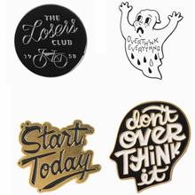 Positive encouragement phrase pins Enamel pins Badges