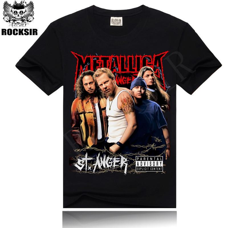 2016-ban a legújabb stílusú férfi póló divat póló férfi 3D Print Rock Band Metallica póló rock márka ruházat