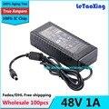 100 pcs Com Chip IC AC 100-240 V Para DC 48 V 1A Potência adaptador de Alimentação 48 W de Comutação Para Led LCD Monitor de CCTV Livre grátis