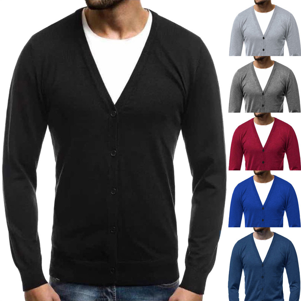 Autumn Winter Men's Sweater Coat Men's Autumn Winter Warm Pullover Cardigan Button Knitted Sweater Blouse Tops кофта женская