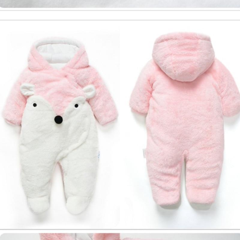 Winter Baby Romper Noworodek Ubranka z długim rękawem polar - Odzież dla niemowląt - Zdjęcie 4