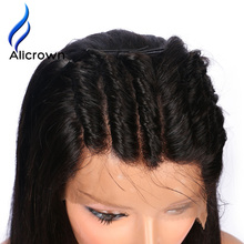 Alicrown 180% Density Full Lace Human Hair Wigs With Baby Hair Brazilian Remy Hair Lace Wigs For Black Women Pre-Plucked