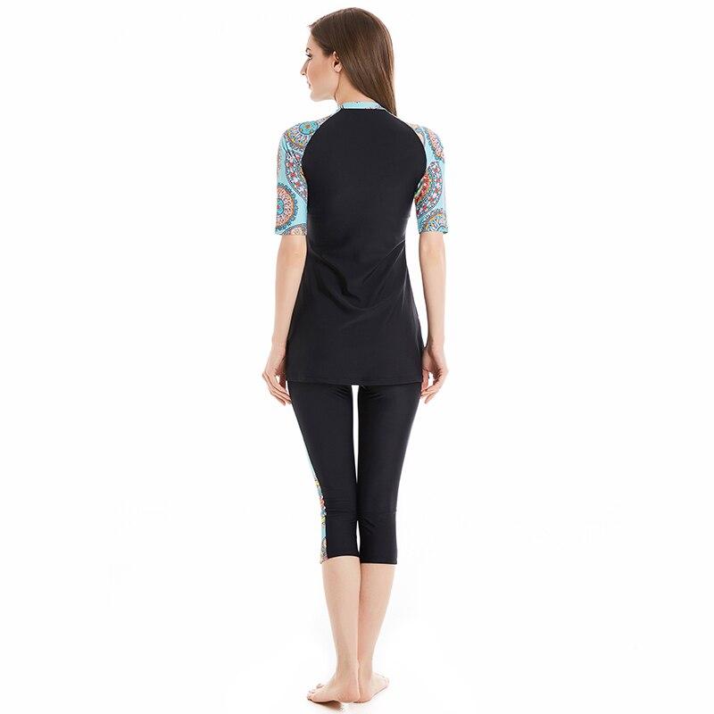 Modest Swimsuit Muslim Swimwear Women Full Cover Short Sleeve Swimsuit Islamic Hijab Islam Bathing Suit Burkinis 4XL