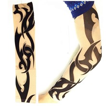Exy Punk Fake Crown Temporary Tattoos Sleeves 1Pcs S Nylon Elastic Arm Stockings 25 Different Styles To Choose