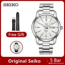 100% Оригинальные SEIKO 5 автоматические Move мужские часы Механические наручные часы 5 бар Водонепроницаемость светящаяся универсальная гарантия SNKM87J1