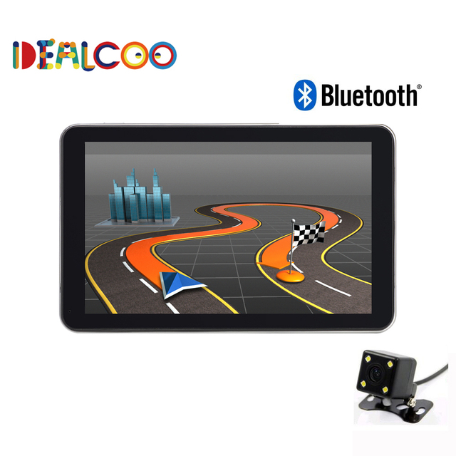 New 7 inch HD Car GPS Navigation FM 8GB/256M DDR Bluetooth Map Spain/ Europe/USA+Canada/Israel Truck gps Sat nav rearview camera