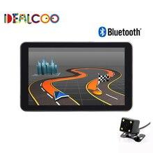 Nueva 7 pulgadas HD GPS Del Coche de la Navegación FM 8 GB/256 M RDA Bluetooth Mapa España/Europa/EE. UU. + Canadá/Israel Camión gps Sat nav cámara de vista trasera