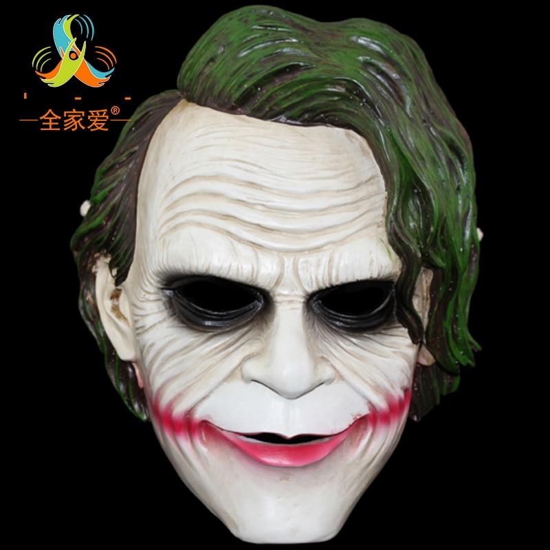 NEW ARRIVAL Movie Theme Resin Batman Joker Clown Mask Robbers Version 2.0 Heath Ledger Resin Masks Free Shipping