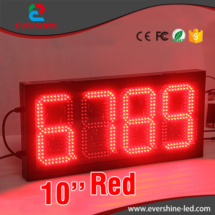 High 10 Brightness 4digital red 7 segment led number  gas station led digital number display набор метчиков 8х1мм 2 шт fit 70844
