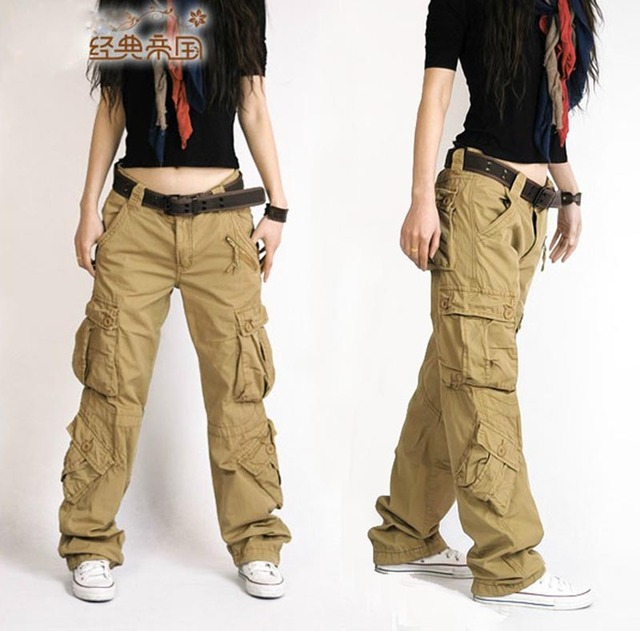 Free Shipping 2020 New Arrival Fashion Hip Hop Loose Pants Jeans Baggy Cargo Pants For Women 5