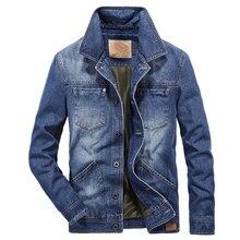 Men Clothes 2018 Denim Jacket brand AFS JEEP Fashion Autumn jaqueta masculina Big Size 4XL hip hop streetwear jeans coat