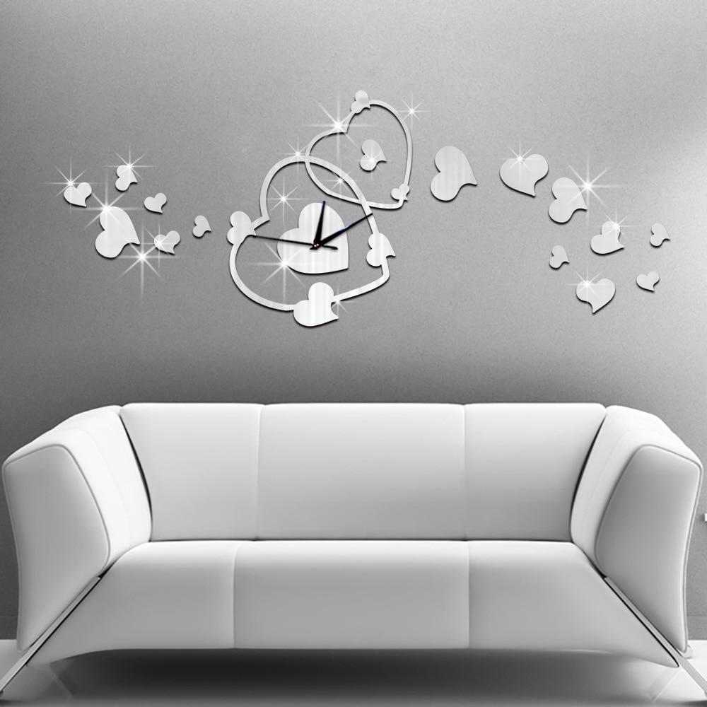 hot sale heart wall clock fashion modern design romantic reloj  - undefined sgs undefined undefined