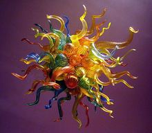 Art Design Multi Color Blown Glass Chihuly Style European Crystal Decorative Chandelier