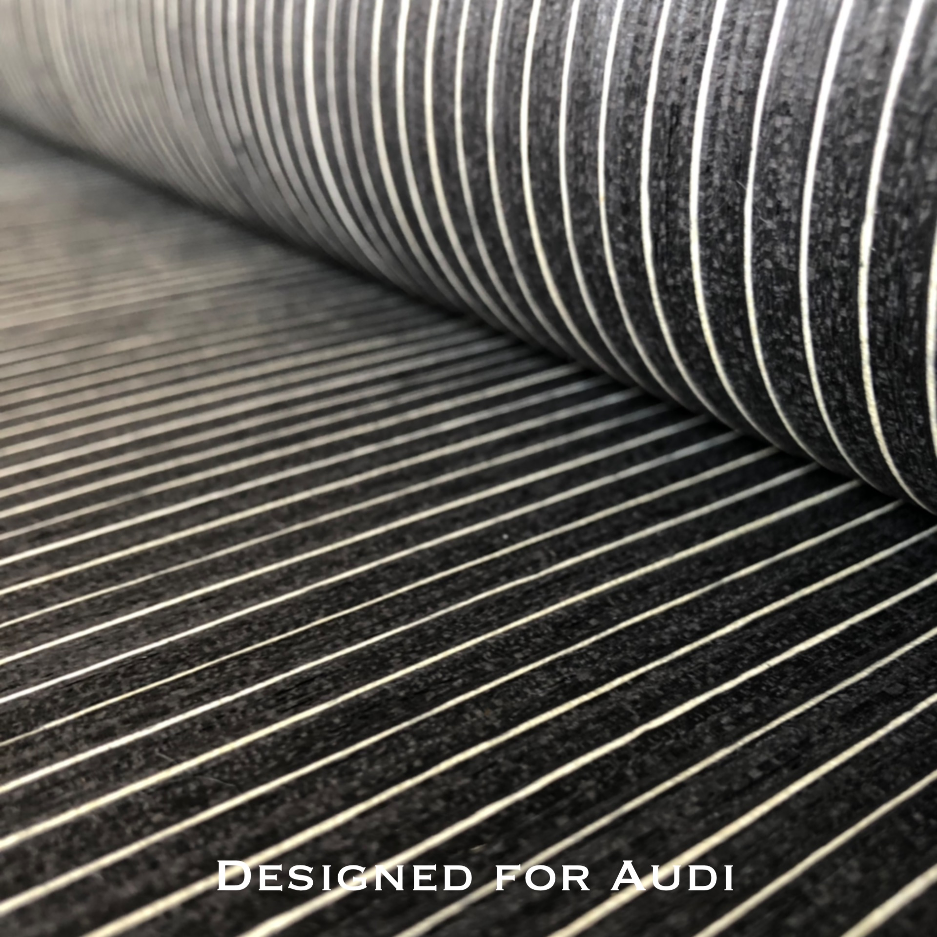 Audi Technical Veneer Sliced Wood Engineering Veneer E.V. 63cm X 2.5m Black Ebony Straight Grain Striped Q/C