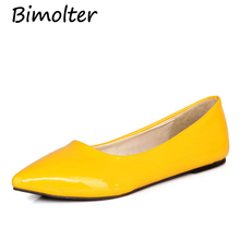 Bimolter Big Size Women Flats Candy Color Shoes Woman Loafers Summer Fashion Sweet Flat Casual Shoes Women Zapatos Mujer PFSB006 2018 big size women flats candy color woman loafers spring autumn flat shoes women zapatos mujer plus size 35 40