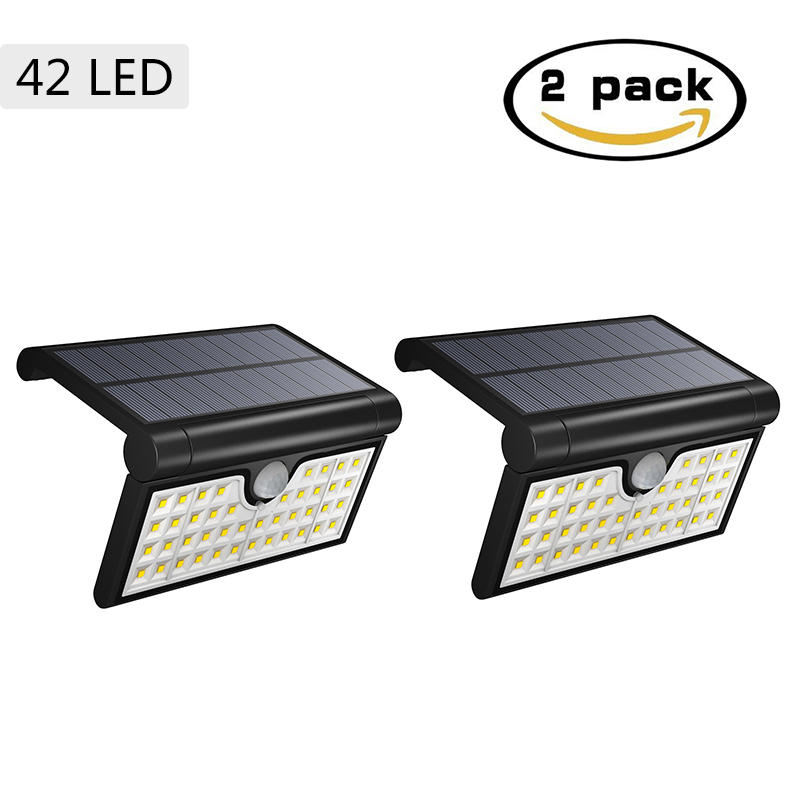 Solar Powered Motion Senser Light 42 LED Shell Folding 2W Outdoor Solar Led Lights Garden Wall Street Waterproof Lamp ALUVEE