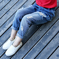 New  Girls Jeans Regular  Ripped Jeans For Kids Unisex Boy Pantalon Jean Enfant Garcon Jeans 6J026