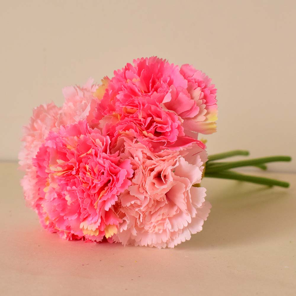 Silk Carnations Artificial Flowers For Wedding Bouquets Gardens Home