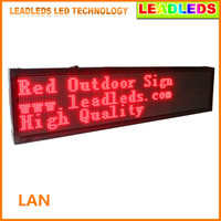 66 X16 P10mm Outdoor RED LED Display Board Waterproof Outdoor Programmable Display Scrolling Message Advertising Business
