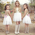 Baby Girl Dress Chlidren Clothing Sequins Party Gown Mini Ball Formal Love Backless Princess Bow Backless Dresses Girls