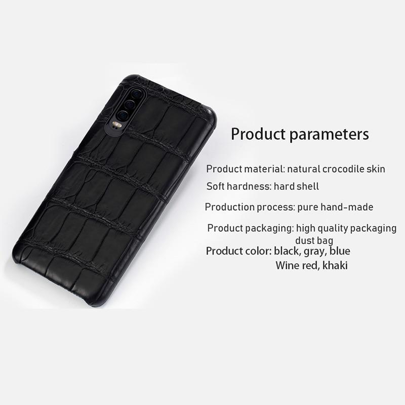 Natürliche krokodil leder Für Huawei p30 pro high end leder telefon fall für Huawei p30 P10 Lite p20 pro herbst schutz hülse - 5