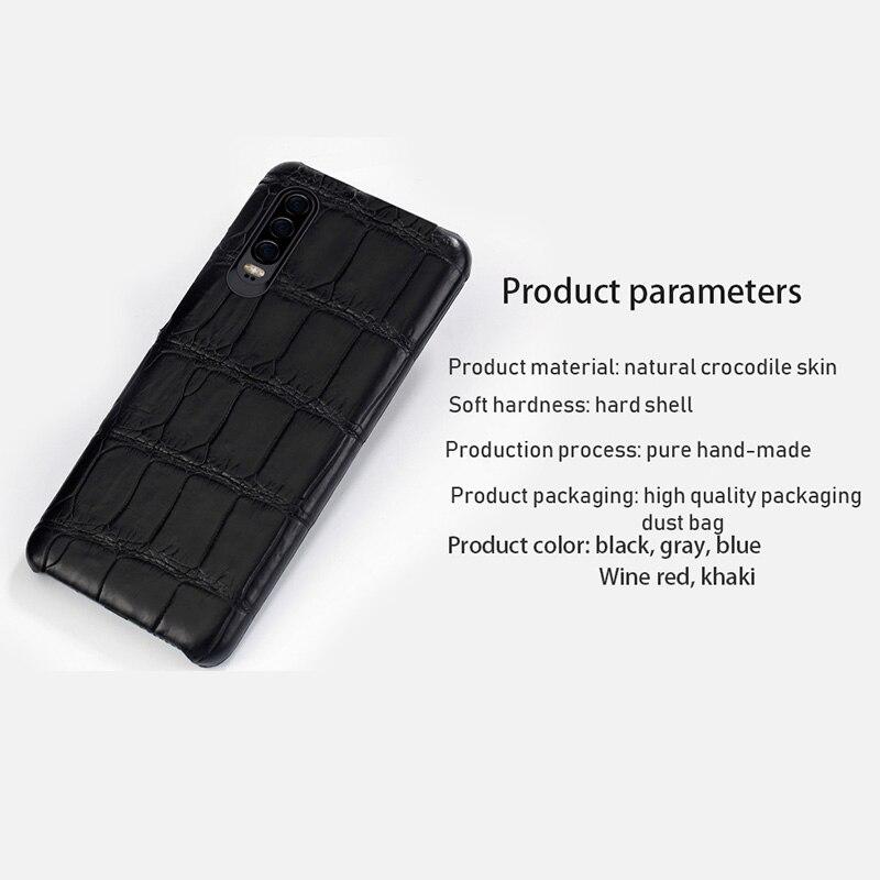 Натуральная крокодиловая кожа для huawei p30 pro высококачественный кожаный чехол для телефона для huawei p30 P10 Lite p20 pro защита от падения - 5