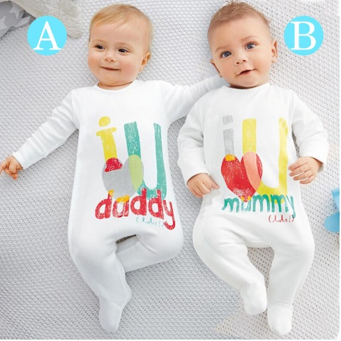 561905b42 baby rompers 2016 Newborn I love mummy   daddy Baby Costume Girls ...
