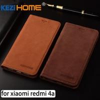 For Xiaomi Redmi 4A Case Flip Matte Genuine Leather Soft TPU Back Cover For Xiaomi Redmi