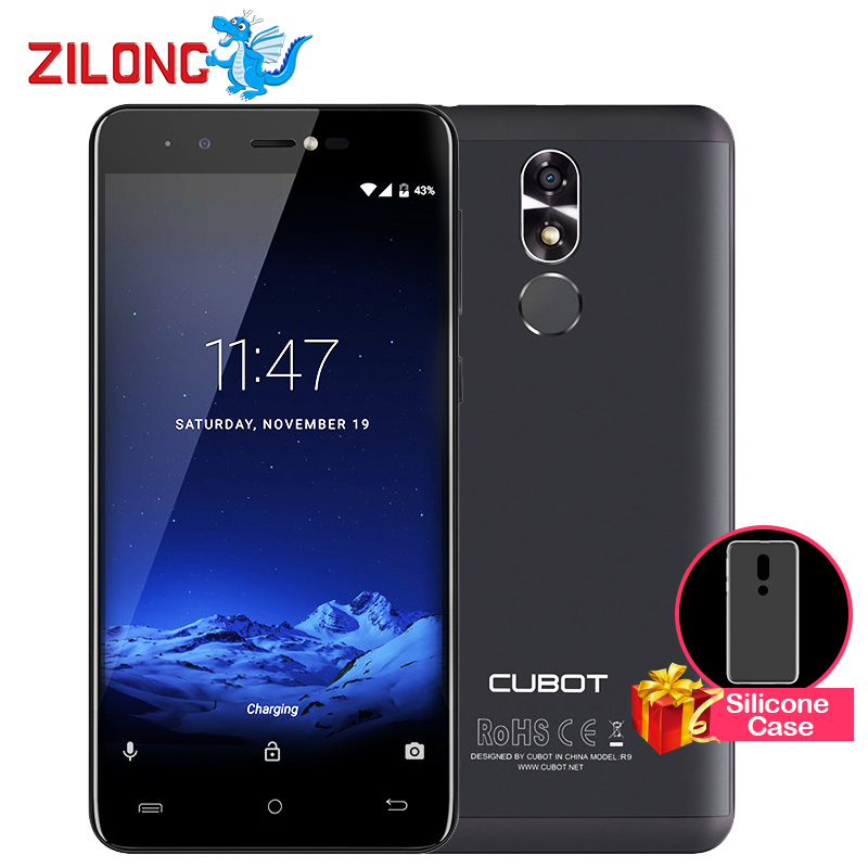 "bilder für Original CUBOT R9 Android 7.0 Smartphone 5,0 ""HD MTK6580 Quad Core 2 GB RAM 16 GB ROM 13MP 2600 mAh Fingerabdruck Bunte Handy"