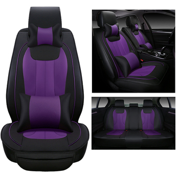front+rear Luxury Leather car Seat Cover set universal Black Beige brown sport car seat covers Car Seat cushion auto Accessories executive car