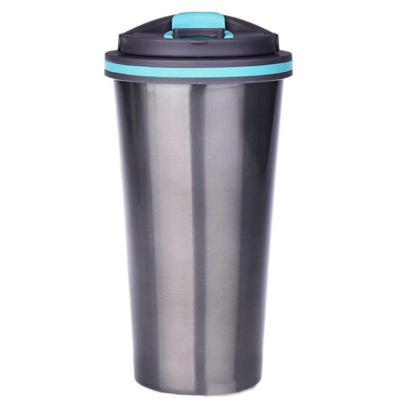 Новый Рождественский подарок Кофе вакуум Портативный кружка молока воды 500 мл офис чашка для любителей Для женщин Для мужчин Нержавеющаясталь автомобиля томс