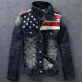 Fashion New USA Design Mens Jeans Jackets American Army Style Man's Jeans Clothing Denim Jacket for Men Plus Asian Size M--XXXL,
