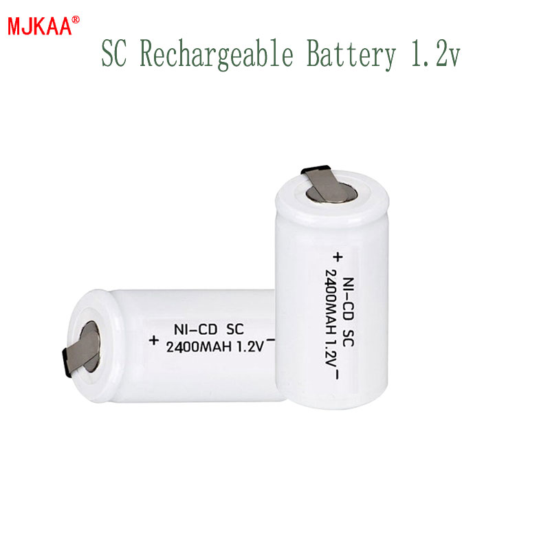 High Quality Rechargeable Battery Secondary Battery SC Battery 1.2 Volt 2400mah