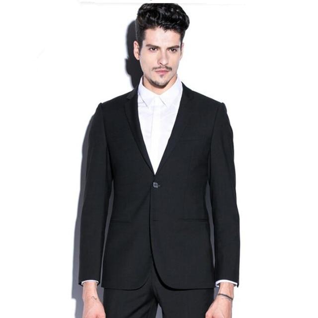 Черные мужские костюмы куртка новый дизайн красивый смокинги groom куртка на заказ свадебные дружки костюмы куртка