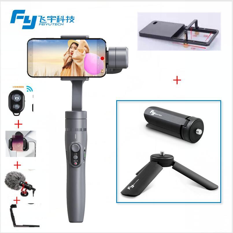 FeiyuTech Vimble 2 Feiyu 3-Axes Poche Smartphone Stabilisateur de Cardan avec 183mm Pôle Trépied pour iPhone X 8 7 XIAOMI Samsung