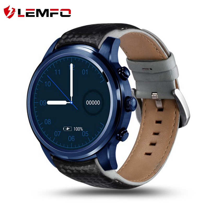 LEMFO LEM5 PRO Smart Watch Phone MTK6580 Pedometer Heart Rate Activity Monitor WIFI GPS 3G 1