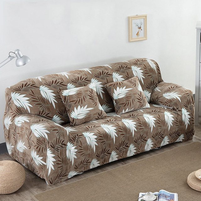100 Polyester Sofa Cover Slip Resistant Covers Sectional Elastic Full Towel Single Two Three Four Seater Divano