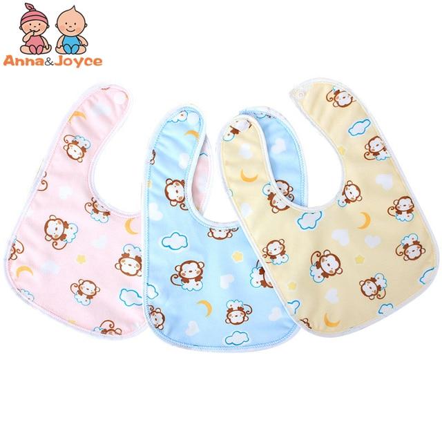 3pcs/lot Baby Bibs Waterproof Mouth Water Towel Cotton Bib Infants Ultra-soft Bib Pocket A Variety of Color Rice