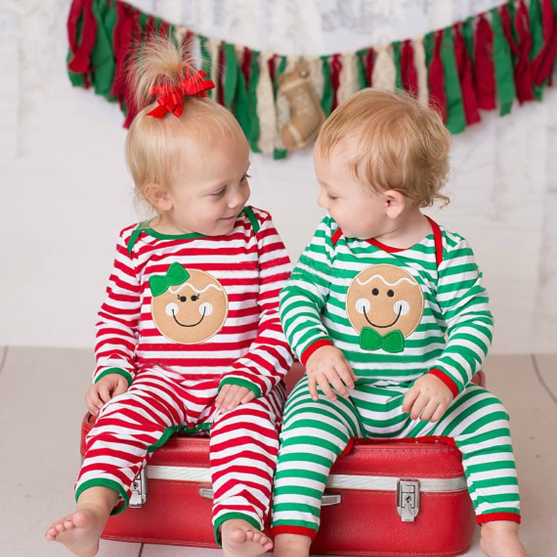 Cotton Cute Baby Girls Boy Long Sleeve Baby Clothes Christmas Baby   rompers   Costume Cotton Festival Christmas Clothes Infant