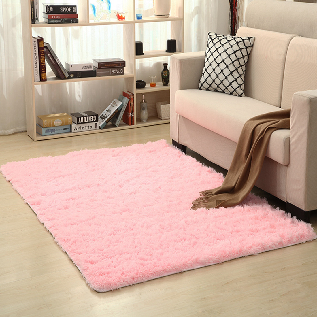 Carpet For Bedroom: Plush Carpet For Living Room Bedroom Mat Non Slip Carpet