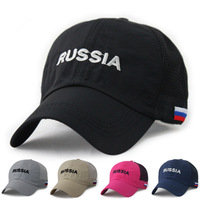 20155 Summer Breathable Russia Mesh Cap Snapback Baseball Cap Trucker Hat
