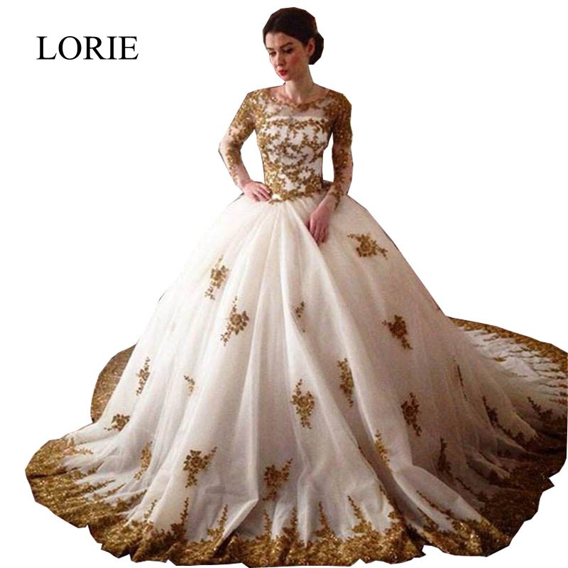 Online get cheap gold ball gown alibaba for African white wedding dresses