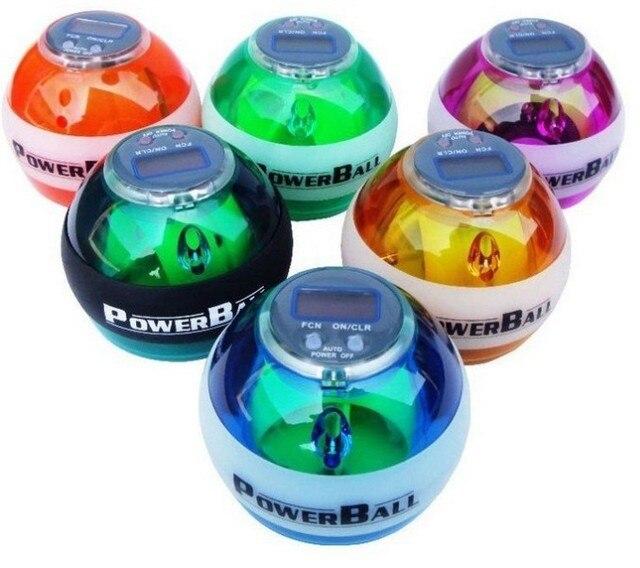 New PowerBall Gyroscope LED Wrist Strengthener Ball SPEED METER Power Grip Ball Power Ball 5colors
