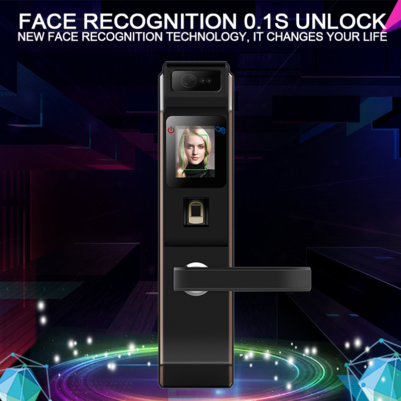 Eseye Biometric Intelligent Electronic Door Lock Face Recognition Fingerprint Password Access Control Door Lock Smart Door Lock eseye electronic lock door face digital door lock fingerprint intelligent electronic locks smart door lock touch screen keyless
