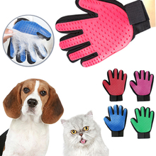 Pet Hair Remover Gloves Brush Dog Cat Bath Grooming Washing Clean Massage Glove Fur Cleaning Pet Hair Brush silicone cat gloves hair comb pet bath brush gentle efficient massage grooming and for pet washing gloves goods hair pet finger