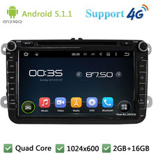 Quad Core 8″ Android 5.1.1 Car DVD Multimedia Player Radio 4G DAB+ For VW PASSAT Golf Scirocco Sharan Amarok Multivan T5 Jetta