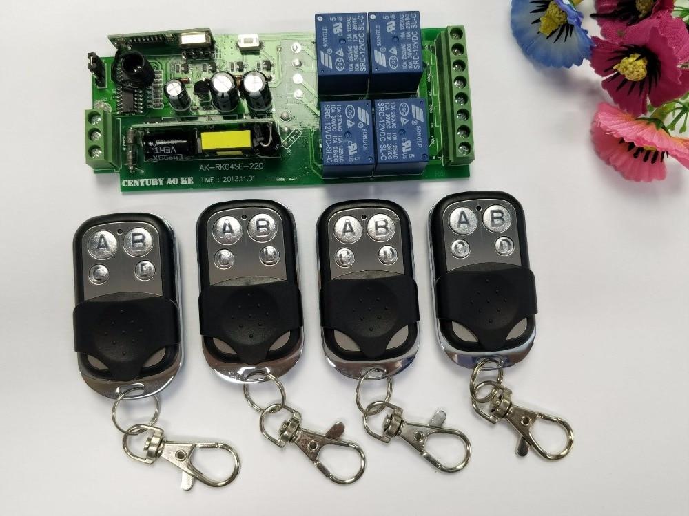85v 250v 4ch Rf Wireless Remote Control Relay Switch