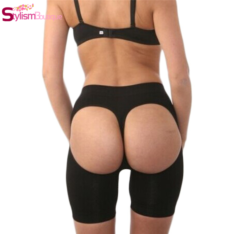 Women's Intimates Quality Women Black Butt Lifter Open Bottom Tummy Control Hot Stovepipe Buttock Enhancer Slimming Leg Trimming