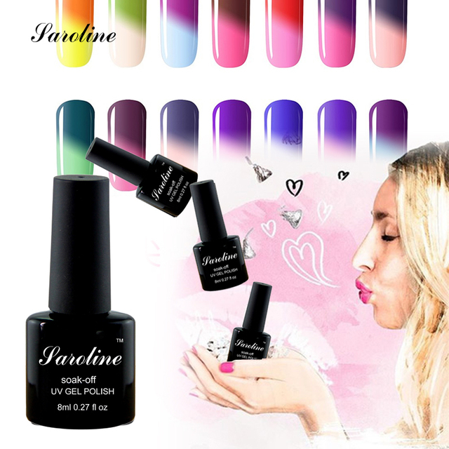 Saroline Temperature Color Lucky Change Soak Off Nail Gel Perfect ...